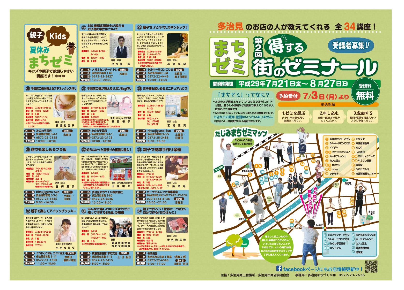 「たじみまちゼミ」第2回得する街のゼミナール